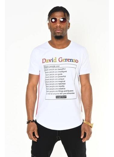 DAVID&GERENZO Tişört Beyaz